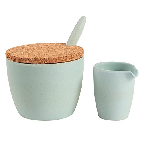 2-Piece Sugar Bowl and Creamer Set – Bamboo Condiment Cont