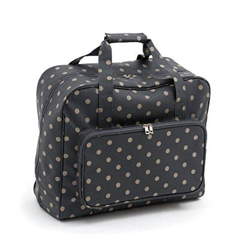 Hobby Gift 'Charcoal Polka Dot' Sewing Machine Bag 20 x 43 x 37cm (d/w/h)