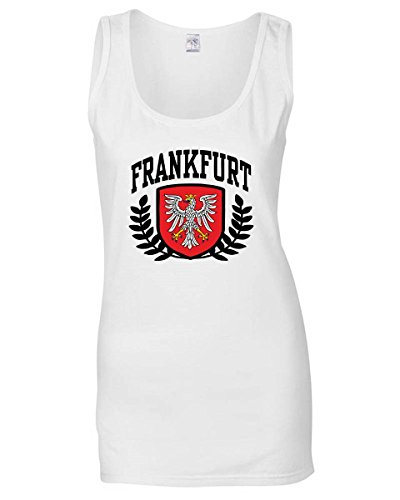 Donna Frankfurt Canottiera shirtshock Calcio Bianca T Ultras Germany T0924 XxWnRdT