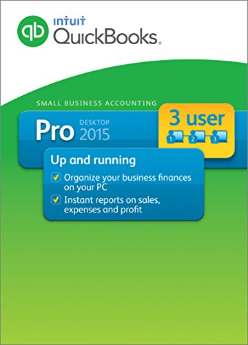 QuickBooks Pro Small Business Accounting Software 2015 3-User (Old Version)