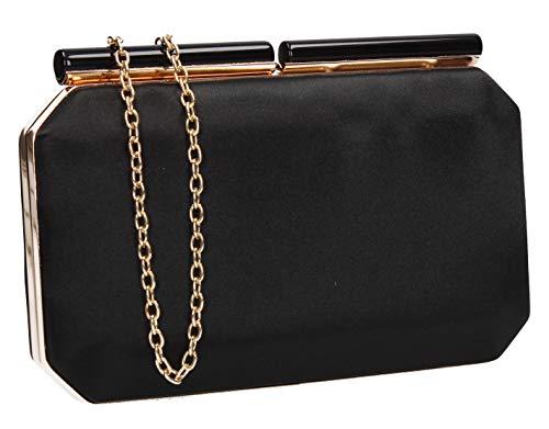 Weave Clutch Ladies Bag Black Charlotte Womens Ragged SWANKYSWANS 8WARq5a