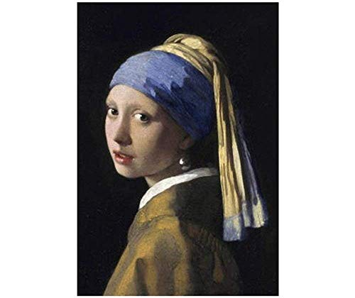 5D DIY Girl with a Pearl Earring Diamond Painting Kits Square Full Drill Rhinestone Embroidery Cross Stitch Arts Craft for Home Wall Decor 16x20 inches