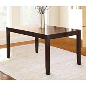 Acacia 5 foot solid wood dining table tables for Dining room tables on amazon
