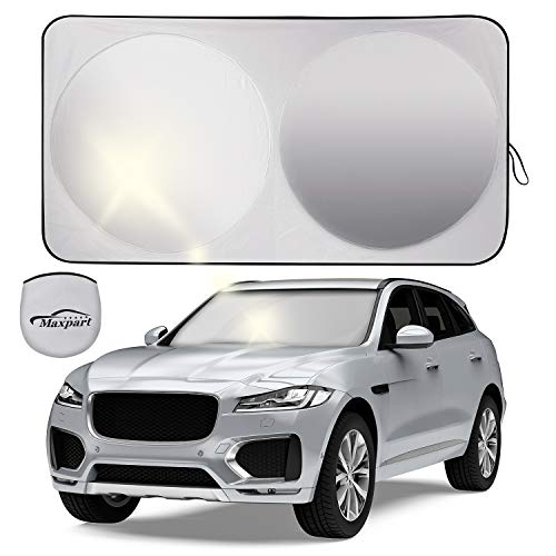 Car Windshield Shades for Front Window,Sun Shade for Car Windshield Foldable,Sun Reflector for Cars,Sun Protector block UV rays,Keep Your Vehicle Cool And Damage Free, 210T Reflective Fabric,63''x34''