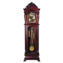 Traditional Cherry Finish Grandfather Clock By Acme Furniture