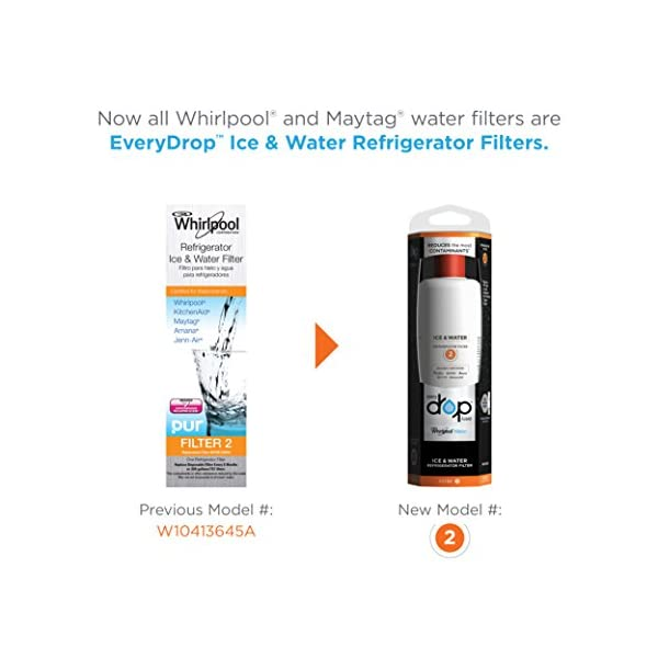 EveryDrop by Whirlpool Refrigerator Water Filter 2 (Pack of 1) (Packaging  may vary)