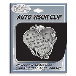 HEART Shaped VISOR Clip for CAR/Automobile - \