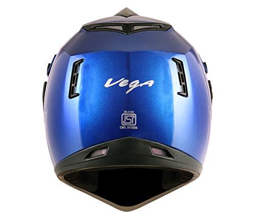 Best Vega – OR-D/V-MB_M Off Road D/V Blue Helmet in India