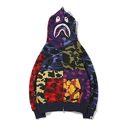 5d0edc0c Amazon.com: A Bathing Ape Camo Bape Zip Shark Head Camouflage Hoodie Coat  Long Sleeve Jacket: Clothing