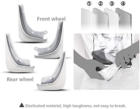 Harwls 1 Set Car Mud Flaps Splash Guard Fenders Mudguard for Tesla Model 3 with Fixing Screws