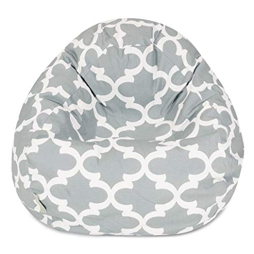 Majestic Home Goods Trellis Classic Bean Bag, Small, Gray