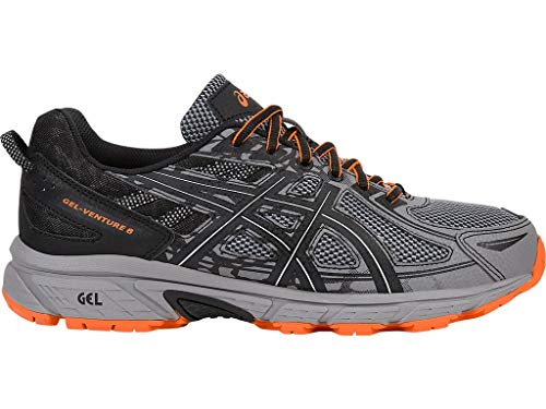 ASICS Mens Gel-Venture 6 Running Shoe, Frost Grey/Phantom/Black, 14 4E US