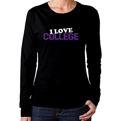Womens Cotton I Love College Classics Long Sleeve Printed T Shirts (Textbooks Isbn Number Search compare prices)