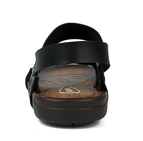 Icegrey - Zapatos de Punta Descubierta Hombre , negro (negro), 44