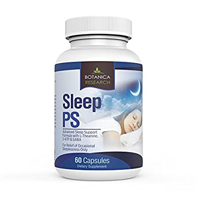 SLEEP PS: ALL Natural Aid to Support Healthy, Deeper and Tranquil REM Sleep Habits. Complex Herbal Remedy Formula With 5HTP Magnesium Citrate Oxide and Melatonin - 60 Capsule Pills
