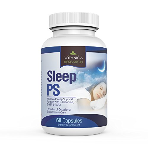 SLEEP PS: ALL Natural Aid to Support Healthy, Deeper and Tranquil REM Sleep Habits. Complex Herbal Remedy Formula With 5HTP Magnesium Citrate Oxide and Melatonin - 60 Capsule Pills Insure Herbal Formula