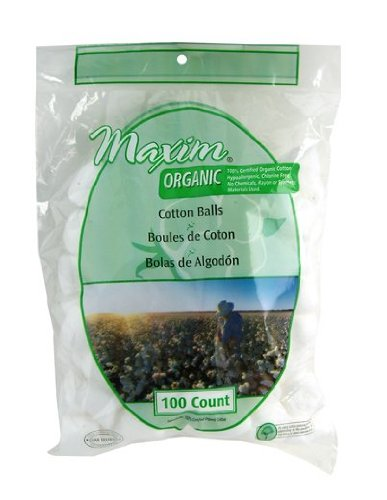 12440024 Organic Cotton Balls 24 Per Case sold as Case Pt# 1-711100-2 by Maxim Hygiene Products
