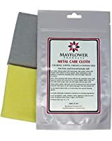 Metal Care Kit Includes 2 Large Cloths: 1 Polishing and Cleaning Cloth for Stainless Steel, Copper, Brass, Chrome; 1 Cotton Flannel for Finish Shine -Non Toxic, Made in USA -Cleans Shines and Protects