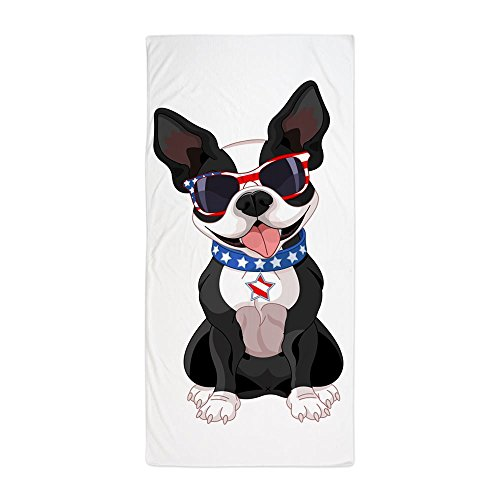 Beach Towel Dog Lover Celebrating Boston Terrier