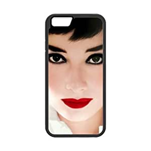 Audrey Hepburn Custom Cover Case with Hard Shell Protection for Iphone6 plus 5.5 Kimberly Kurzendoerfer