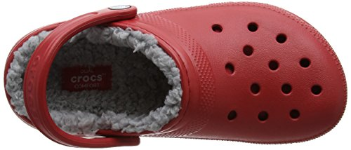 Rouge Mixte Classic Adulte Sabots Clog silver Lined Crocs pepper YRO1Uw