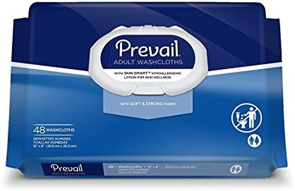 Amazon.com: Prevail Personal Wipe, Bath Wipe Washcloth, 48 Pack, Soft Pack, Vitamin E/Aloe, WW-710 - Special 3 Pack: Health & Personal Care