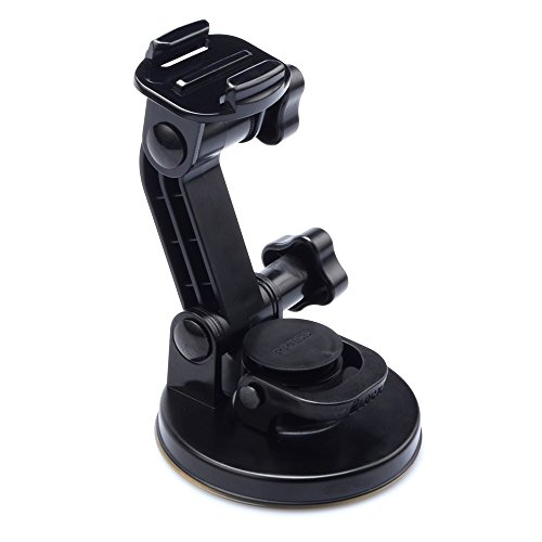 Suptig Suction Cup Mount for Gopro HERO 6 HERO 5 HERO 4 HERO 3+ HERO 3 HERO 2 HERO+ Session All Gopro Cameras Apply to Car Windshield and Window as well as no dust, clean and smooth flat surfaces