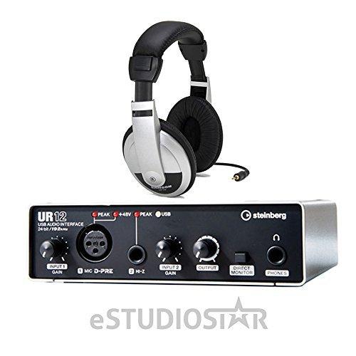 steinberg ur12 usb audio interface with headphone. Black Bedroom Furniture Sets. Home Design Ideas
