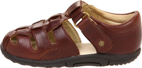 Stride Rite SRTech Harper Fisherman Sandal (Infant/Toddler), Brown, 3 W US Infant - Image 5