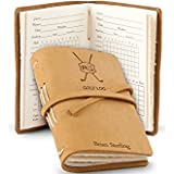 GiftTree Leather Bound Golf Log Journal | Personalized Professional Scorecard Holder | Great gift for any Beginner or Advanced Golfer.