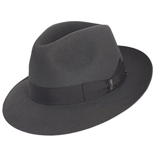 - Borsalino Bellagio Fur Felt Hat - Charcoal Grey - 56
