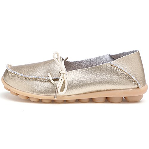 Mocassino In Pelle Da Donna Equick Casual Mocassino Da Guida Scarpe Outdoor Pantofole Slip-on Piatte Da Interno