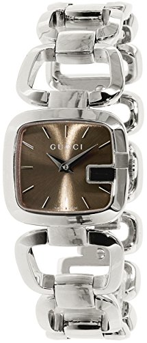 Gucci G-Gucci Brown Dial Stainless Steel Quartz Ladies Watch YA125507 - Gucci Stainless Steel Wrist Watch
