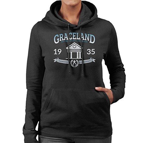 Coto7 Graceland Dancing Academy Elvis Presley Women's Hooded - Sweatshirt Elvis