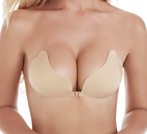 fea033e4d1 Lanfy Self Adhesive Bra Invisible Bras for Women Strapless Bra Backless  Sticky Bra Push up Bra at Amazon Women s Clothing store