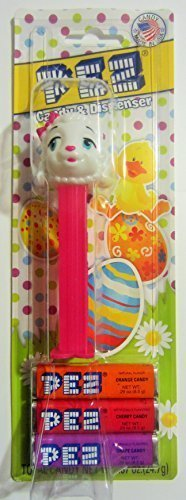 PEZ Easter/Spring Dispenser - Sheep with Pink Bow (Pink Easter Spring)