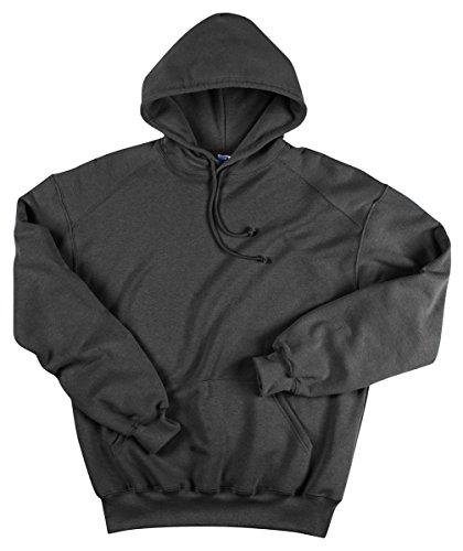 (Badger Hooded Sweatshirt, Charcoal, Large )