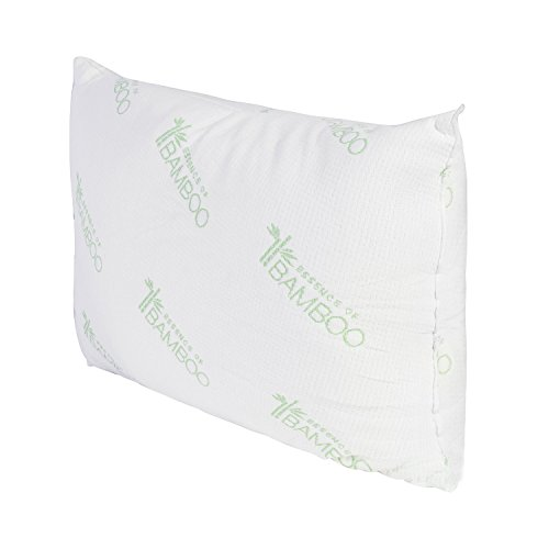 Deluxe Home Essence of Bamboo Pillow Platinum Edition - Extra Plush Series - Down Alternative Hypoallergenic Poly Bed Pillows with Bamboo Cover- Crafted in USA (King)