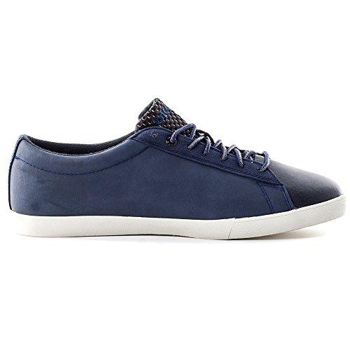 Diesel Scarpe Casual Da Uomo Bikkren Stringate Sportive Sneakers In Pelle Scamosciata Blu Notte / Nero