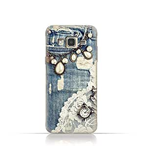 Samsung J2 Pro TPU Silicone Case With Modern Jeans Pattern