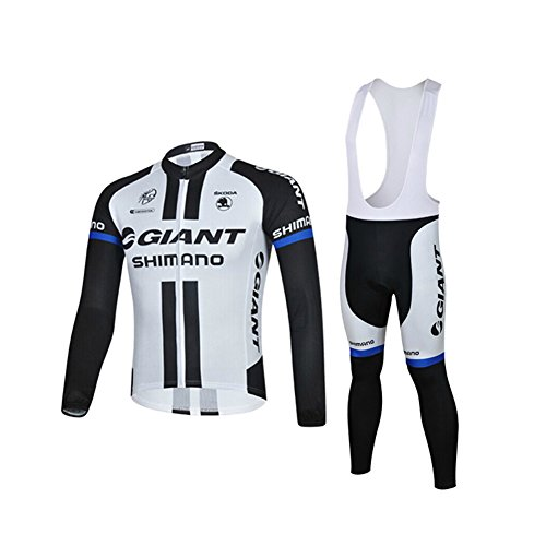 Strgao 2016 Men's Pro Team MTB bike Bicycle Winter Thermal Cycling Long Sleeve Jersey and Bib Pants Tights Set Suit