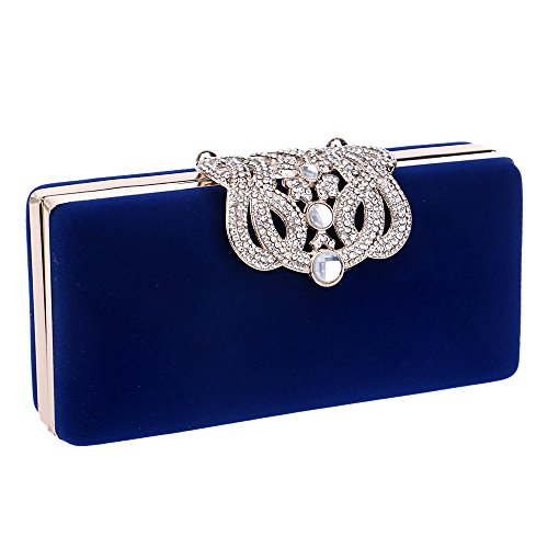 Evening Rhinestones Cocktail With Purses Blue Bling Crystal Ya Jin Bags Clutch Crown Itf0qW8x