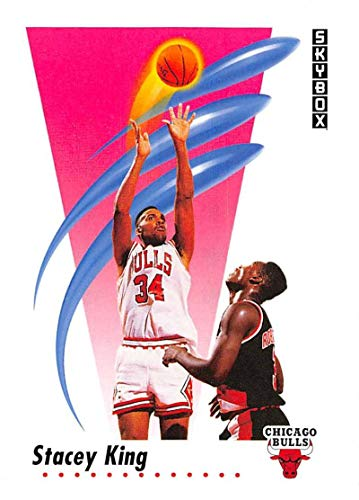 1991-92 SkyBox Basketball #40 Stacey King Chicago Bulls Official NBA Trading Card