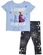 Disney Girls Frozen T-Shirt and Capri Legging Set