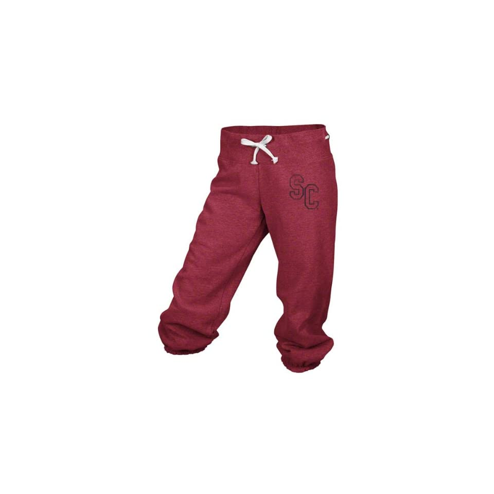 South Carolina Gamecocks Adidas Red Womens Big Better Logo Cropped Capri Pants