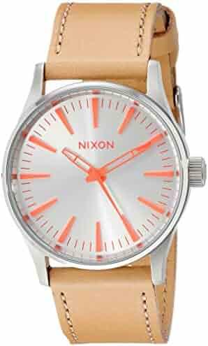 3678f6dc4ad7 Nixon Women s A3772089 Sentry 38 Stainless Steel Boyfriend-Style Watch