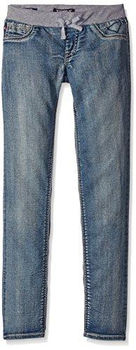 VIGOSS Girls' Knit Waist Skinny Denim Jean, Splash Away, 5 by VIGOSS