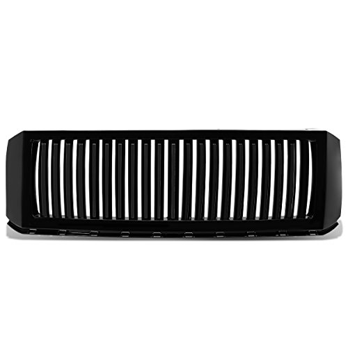 Ford Expedition ABS Plastic Vertical Style Front Upper Bumper Grille (Black) - 3rd Gen (Expedition Vertical Grille)