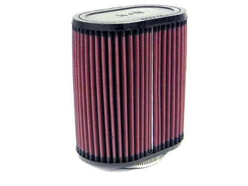 K&N RU-1520 Universal Clamp-On Air Filter: Oval Straight; 2.75 in (70 mm) Flange ID; 7 in (178 mm) Height; 6.25 in x 4 in (159 mm x 102 mm) Base; 6.25 in x 4 in (159 mm x 102 mm) Top K&N Engineering