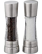 COLE & MASON Derwent Salt and Pepper Grinder Set - Stainless Steel Mills Include Gift Box, Gourmet Precision Mechanisms and Premium